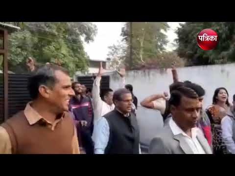 Congress workers celebrate outside Sachin Pilot's residence as initial trends show party leading
