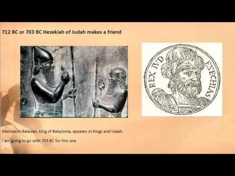 Events of 704 to 702 BC Sennacherib, king of the world