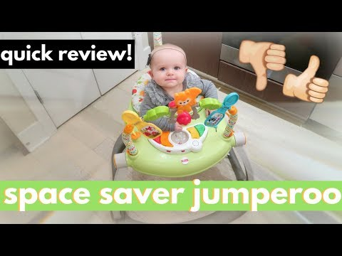 Fisher Price Space Saver Jumperoo Review + Unboxing & Assembly!