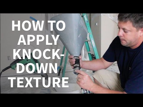 DIY How To Apply Knockdown Texture To Ceilings