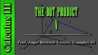 Calculus III: The Dot Product