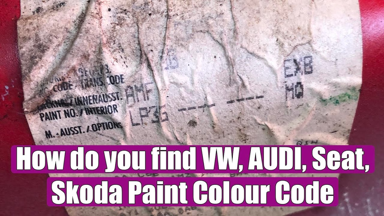 New Vw Beetle Paint Code Location