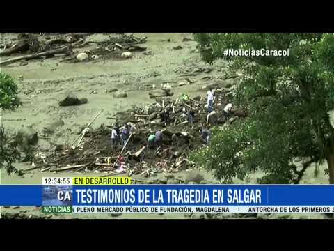 Cámara de seguridad captó el instante exacto de la avalancha en Salgar