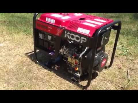 KOOP how to start 3kva portable diesel generator with remote