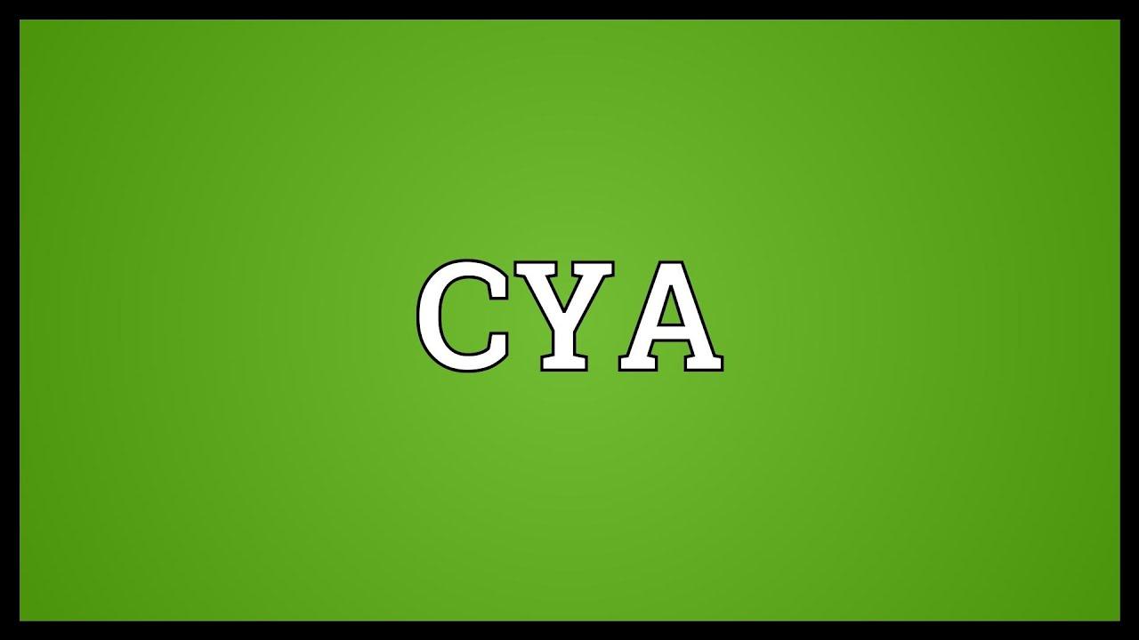 cya meaning