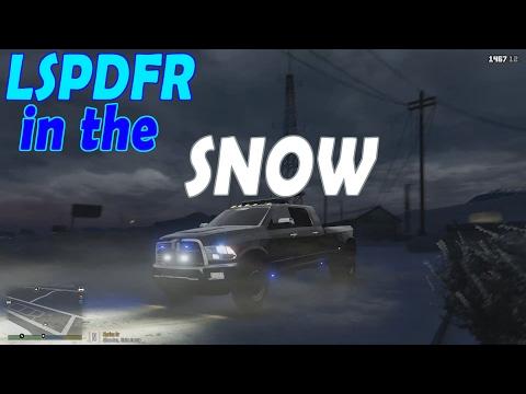 LSPDFR GTA 5 - Blizzard Patrol w/ Tahoe