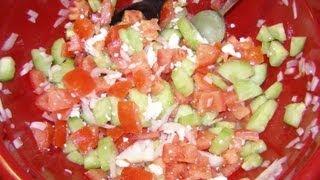 How to make Shopska Bulgarian Salad