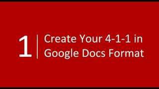Put Your Goals Into Action: Your 4 1 1 and Google Calendar (2015-11-23)