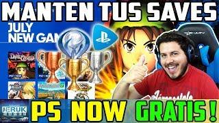 NO PIERDAS TUS SAVE GAMES Y TROFEOS CON PS NOW GRATIS EN 2018