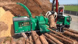 PTH 1200-1000 M Pezzolato drum wood chipper driven by CATERPILLAR C18 motor, 800 Hp power