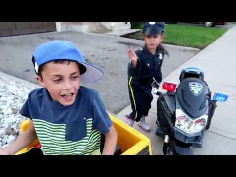 Ride on Toy Sports Car & police custom with hzhtube kids fun