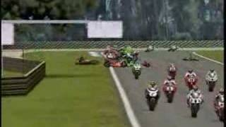 SBK2001 Crashes
