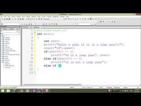 C program codes to check leap year - Learn C Programming p8