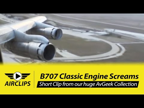 MUST HEAR!!! Boeing 707 Takeoff: Four JT3D turbo engines giving their best & loudest! Airs