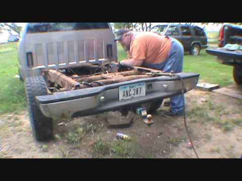 Day 2 of 2000,1500  Chevy gas tank cross member replace