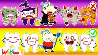 No No, Wolfoo! Don't Eat Too Much Halloween Candies - Learn Good Habits for Kids   Wolfoo Channel