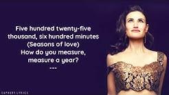 Idina Menzel - Season Of Love (Lyrics)