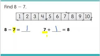 1.OA.6 Count on to subtract