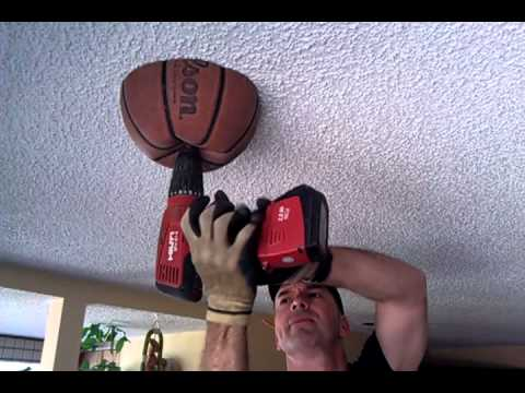 Drilling A Hole In The Ceiling Use A Basketball Youtube