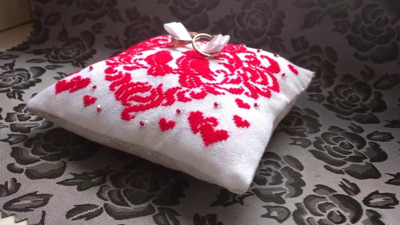 💍 💍 💍 Подушка для колець на весілля. Wedding rings cushion. Cross ...