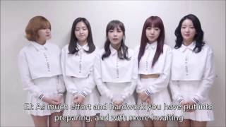 [ENG SUB] Apink 151110 수능 응원 메세지 SAT exam cheering message