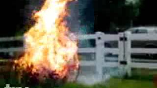 Accidentally Burns Himself in Fire using High Octane Gasoline