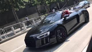 CRAZY Audi R8 V10 Plus Accelerations, Revvs, and Downshifts