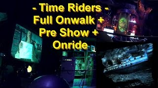 Time Riders OnRide - Movie Park Germany - Full Onwalk + Pre Show + Onride Simulator