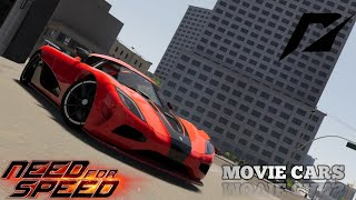 THE NEED FOR SPEED MOVIE CARS (THE CREW 2 / CINEMATIC)