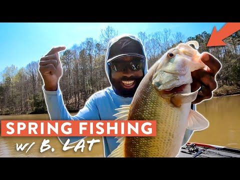 Locating SPRING Bass And How To Catch Them! | Bass Fishing Tips W/ B.Lat