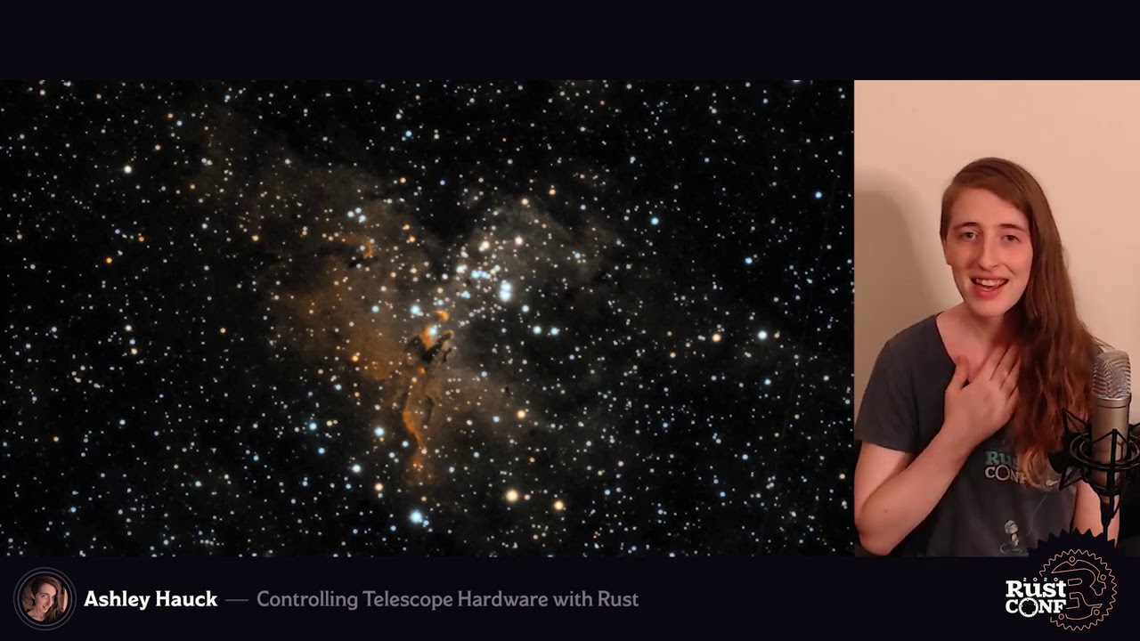 Controlling Telescope Hardware with Rust by Ashley Hauck - RustConf 2020