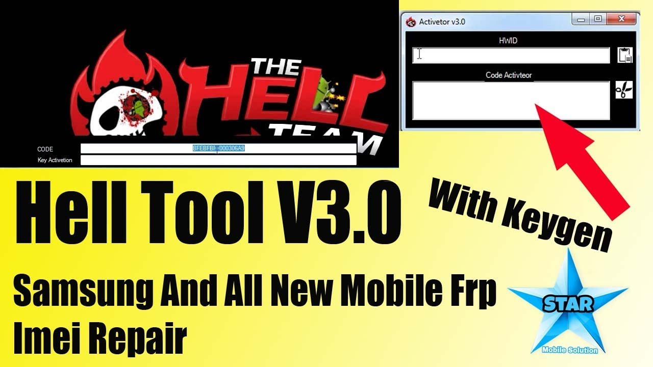 Hell V3 0 Tool With Keygen || Hell tool Samsung And Other All Mobile  Frp,Imei Repair by Star Mobile Solution