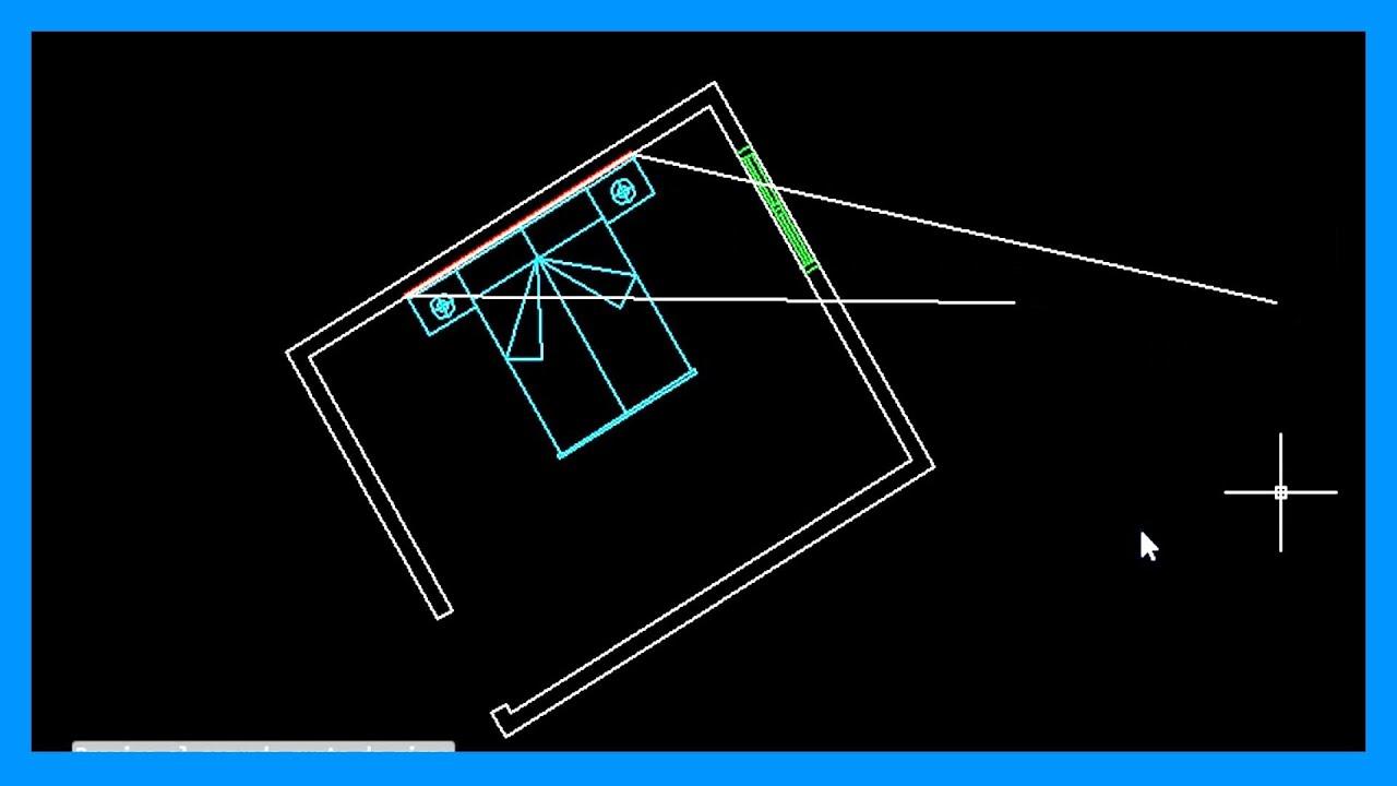 Autocad  Alinear dibujo Alinear un objeto Alinear respecto a
