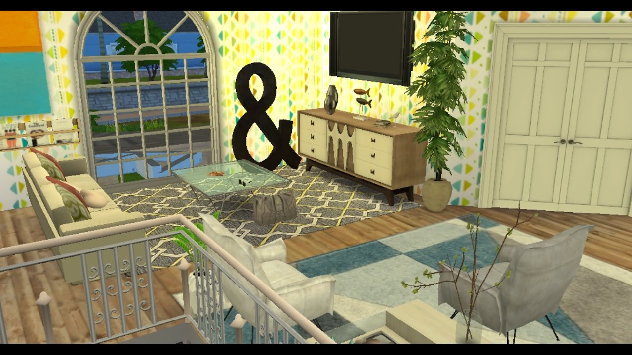 The sims 4 house building cc second floor youtube for How to make a second floor on sims freeplay