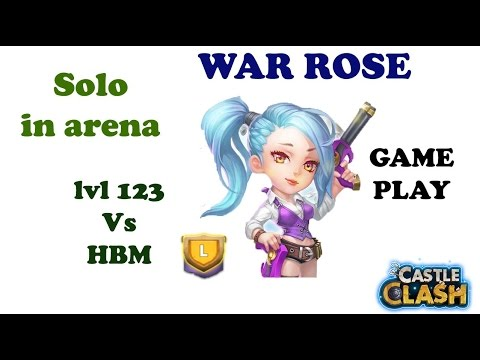 Castle Clash WAR ROSE  GamePlay Arena Fight + HBM L  Must Have Hero??
