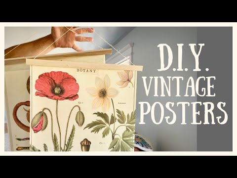 DIY Hanging Poster Frames - Easy and Affordable Decor