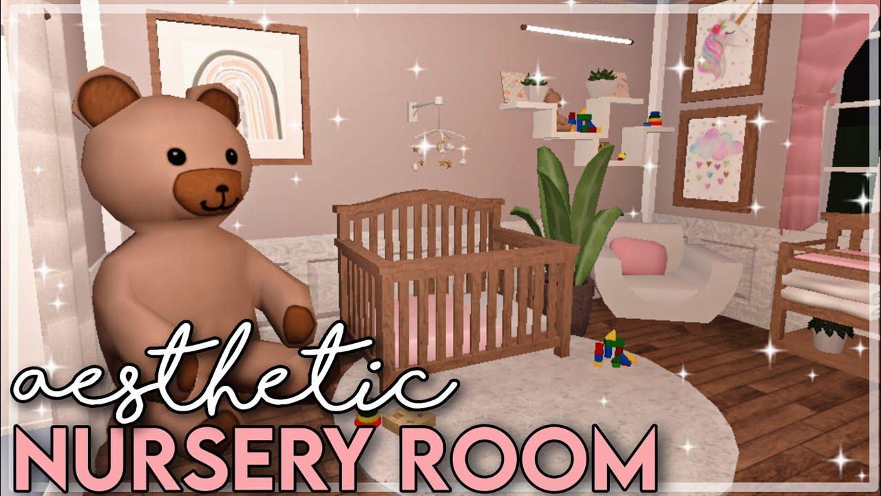Aesthetic Blush Baby Nursery Room SpeedBuild + Tour |✰ Bloxburg Baby Update 0.9.0✰| ROBLOX Builds - YouTube