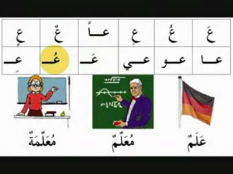 Berühmt Arabisches Alphabet lernen Teil 1 - YouTube &FT_82