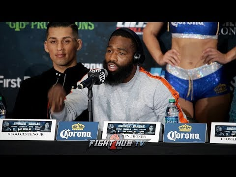 "ADRIEN BRONER CHECKS JESSIE VARGAS ""WHEN YOU STEPPED UP TO BRADLEY & PACQUIAO YOU LOST!"""