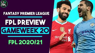 FPL GAMEWEEK 20 PREVIEW | The best De Bruyne replacement? | Fantasy Premier League Tips 2020/21