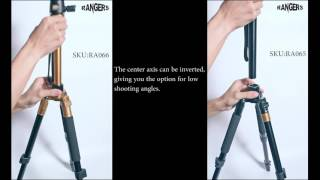rangers universal adjustable lightweight travel tripod with ball head for dslr camera ra065