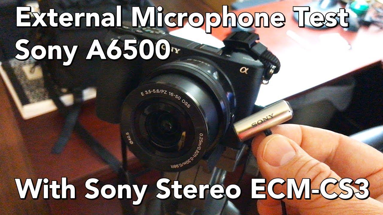 Test #33 Sony NEX 5N - ECM-SST1 External Microphone - YouTube