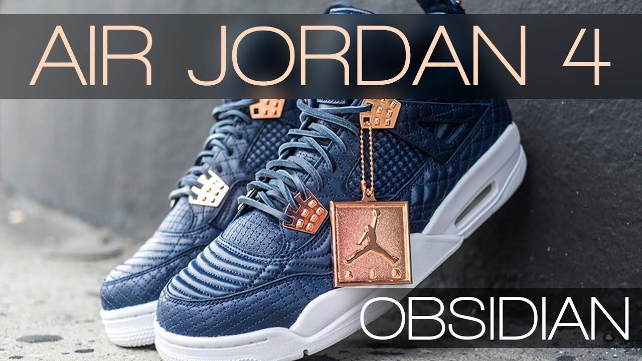 Air Jordan 4 Premium Obsidian Navy White Sneaker Bar Detroit