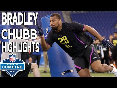Bradley Chubb's BEAST Workout! | NFL Combine Highlights