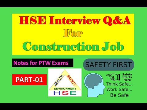 HSE Interview Questions | PTW Exam | Safety Officer | Part-1