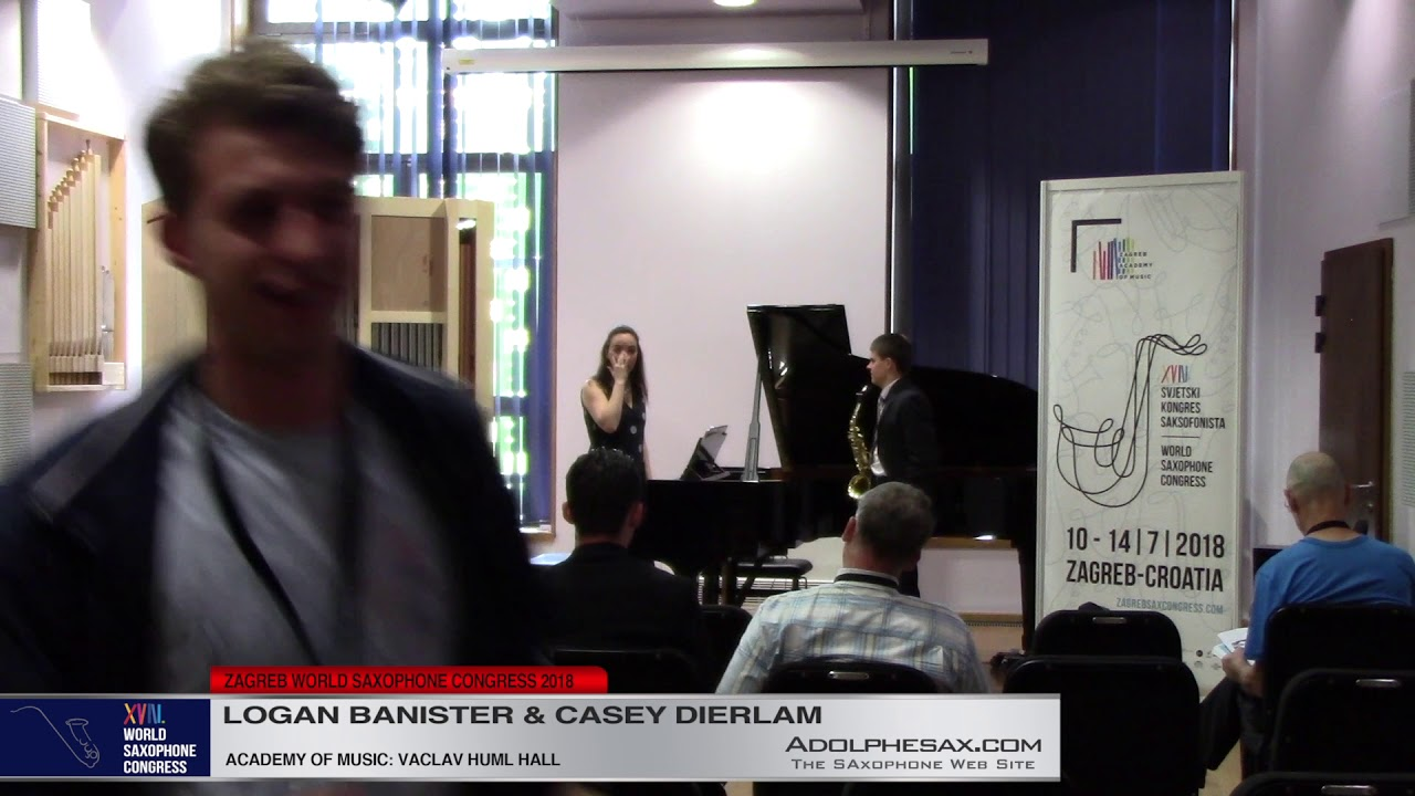 Sonata by Robert Muczinsky    Logan Banister And Casey Dierlam   XVIII World Sax Congress 2018 #adol