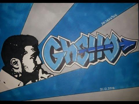 Y Graffiti Letters Bushido Graffiti Lette...