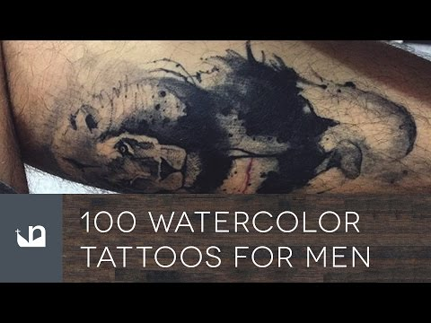 100 Watercolor Tattoos For Men