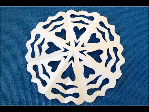 DIY. Как вырезать снежинку из бумаги пошагово. ✽ How to cut a ✽ Paper Snowflake ✽