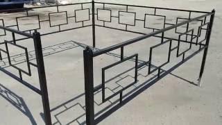 видео Оградки металлические и ограды сварные. Оградка кованая на могилу кладбища Киев